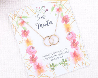 Personalised message card for my mentor with necklace