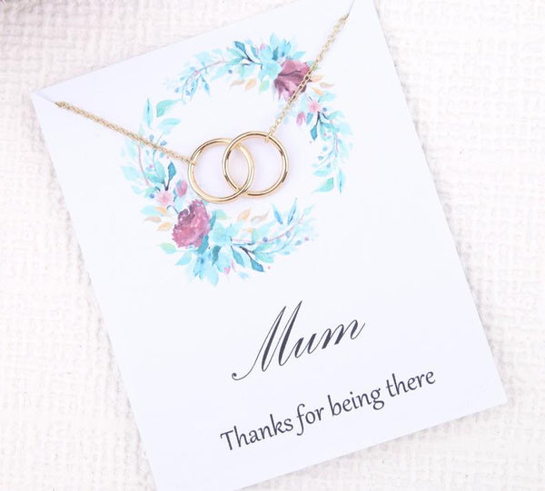 Personalised message card for mum with necklace