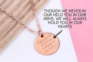Infant loss miscarriage memorial necklace