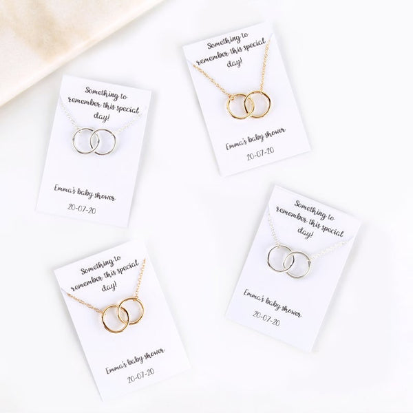Wedding favour personalised message card necklace