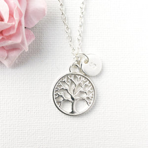 Silver circle tree of life necklace - Statement Made Jewellery