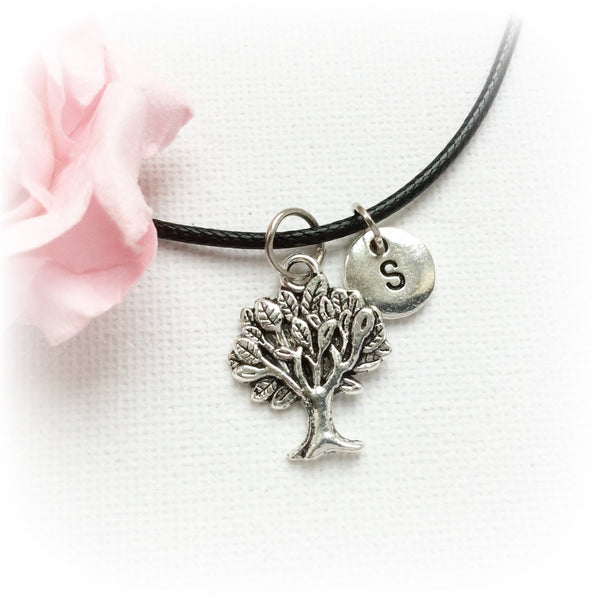 tree Necklace, tree jewellery, tree Gift, tree Charm Jewelry, Personalised jewelry, initial necklace, handmade necklace, , Jewelry - Statement Made Jewelry, Statement Made Jewellery  - 1