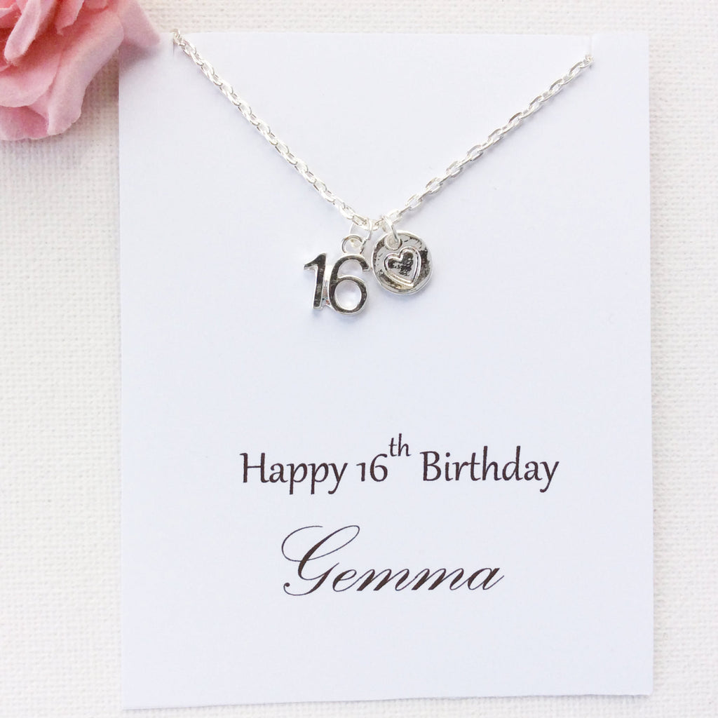 Personalised 16th birthday message card gift statement made jewellery personalised 16th birthday personalized gift gift 16th birthday message card sweet 16 gift kristyandbryce Choice Image
