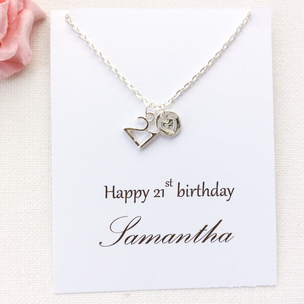 Personalized 21st Birthday Message Card Gift
