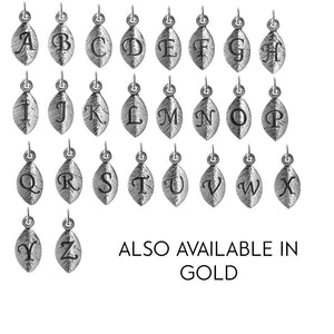 Add-on Silver leaf initial charm to add onto existing orders only! - Statement Made Jewellery