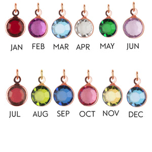 Medium Rose Gold birthstone add-on charm - add onto existing orders only! - Statement Made Jewellery