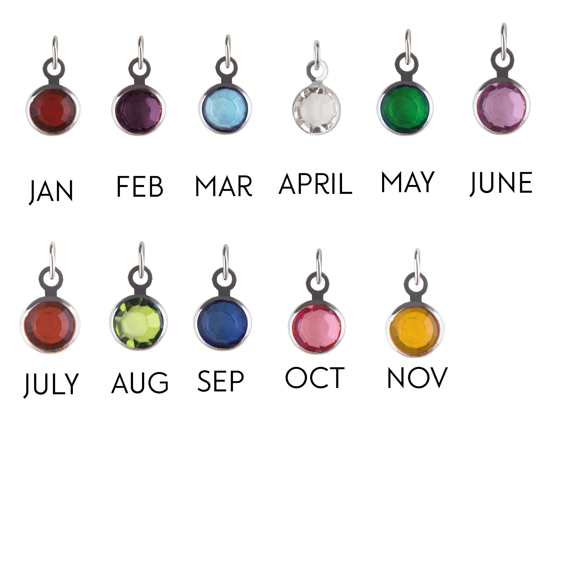 Small silver Add-on Birthstone charm, to add onto existing orders only! - Statement Made Jewellery