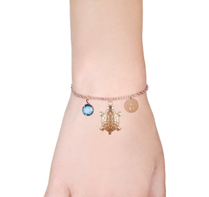 Turtle rose gold bracelet with birthstone and initial - turtle jewellery | Statement Made Jewellery - Statement Made Jewellery