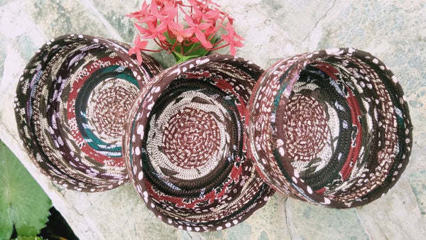CLUSTER OF LITTLE BASKETS without lids--Tribal Design