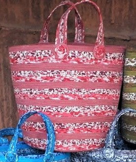 "SHOPPING BASKETS-- ""ZEN STRIPES"" DESIGN (S, M, L)"