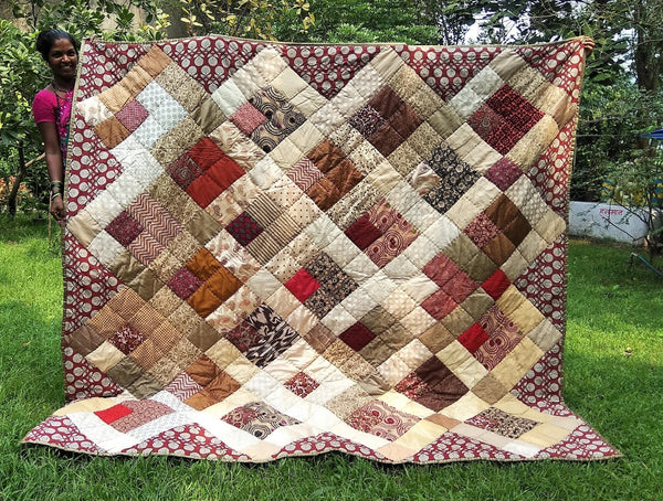 Quilt Made to Order:   Zen Colors Patchwork Quilt