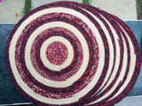 "Colorful Placemat & Matching Coaster ""ZEN"" Colors Hand made with Indian Cotton Fibers"