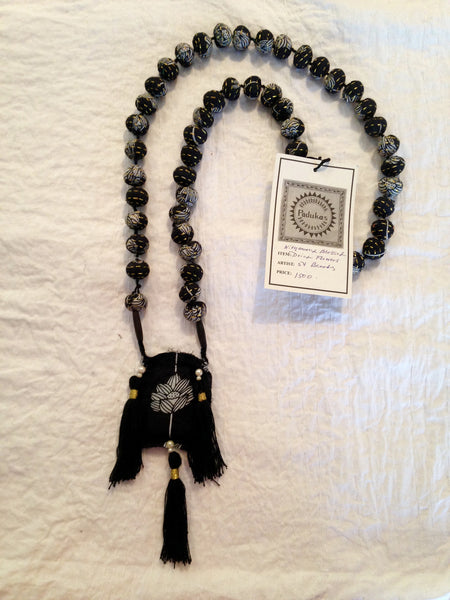 FABRIC BEAD MALA NECKLACE