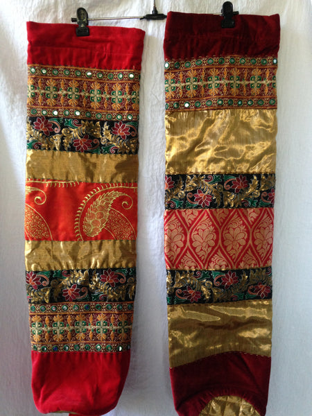 Yoga Mat Bag: Traditional Design, Fancy Indian dress fabric, sarees