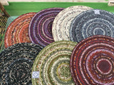 "Colorful Rugs or Table Mats... Circular 20"" One of a Kind"