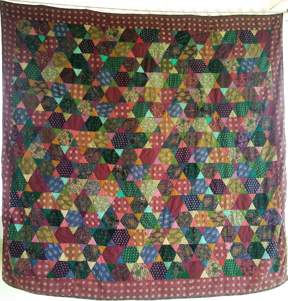 "Favorite quilt ""STARS""  based on Kaffe Fasset design"