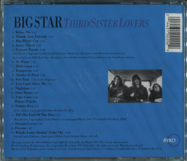 Big Star - Third/Sister Lovers
