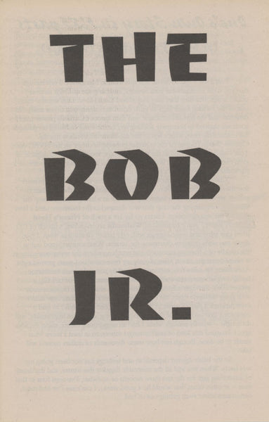 Bob Jr. - Vol 2, No. 5a