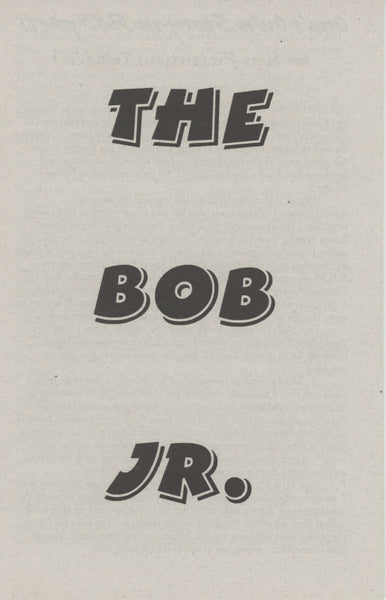 Bob Jr. - Vol 2, No. 5b