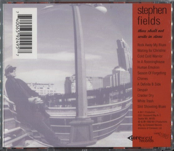 Fields, Stephen – Thou Shalt Not Write In Stone