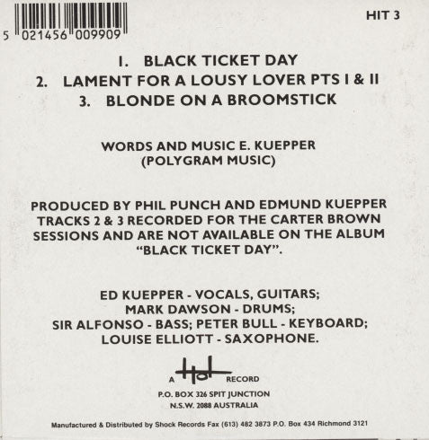Kuepper, Ed – Black Ticket Day