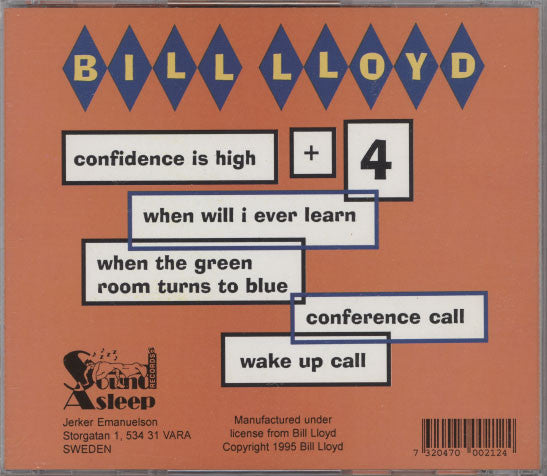 Lloyd, Bill – Confidence Is High Plus 4