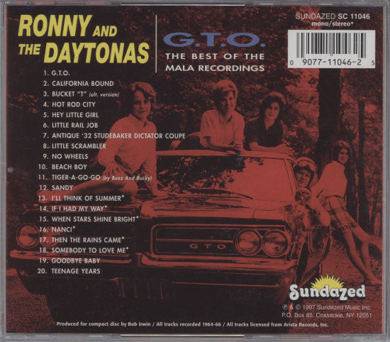 Ronny And The Daytonas - G.T.O. The Best Of The Mala Recordings