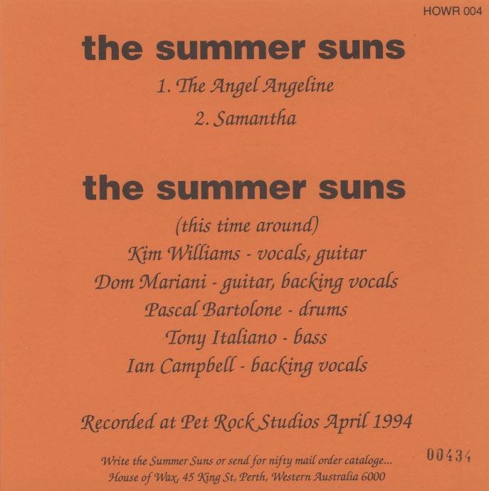 Summer Suns – The Angel Angeline