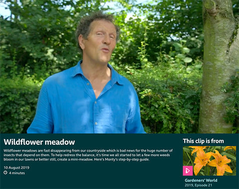 monty down bbc gardeners world sowing a wildflower meadow