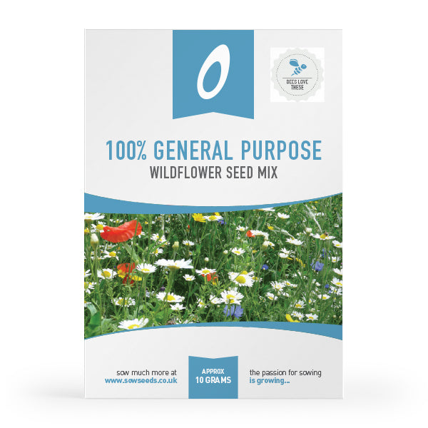 100% general purpose wildflower  meadow mix