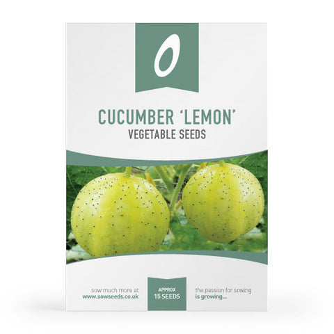 Cucumber Lemon Vegetable Seed Packet