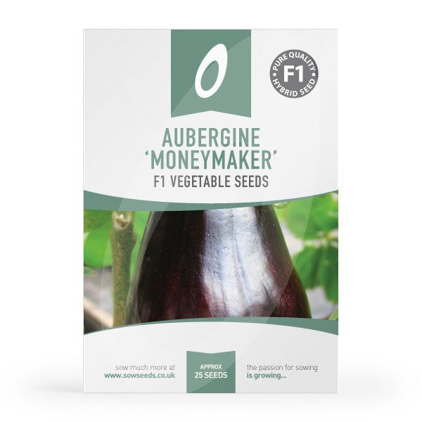 Aubergine Moneymaker F1 Seed Packet