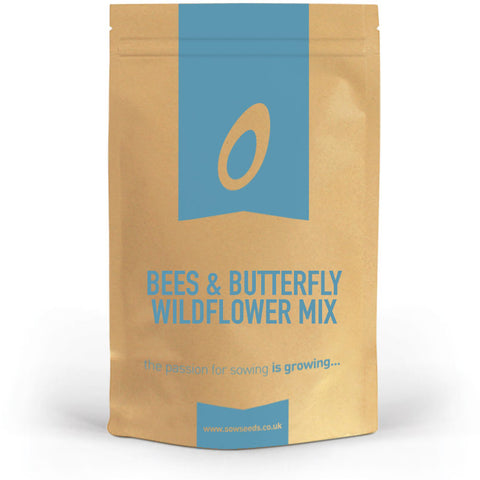 bee and butterfly pollinators wildflower meadow seed mix