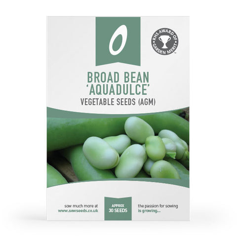 Broad Bean Aquadulce vegetable Seed Packet