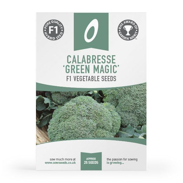 calabrese green magic f1 vegetable seed agm