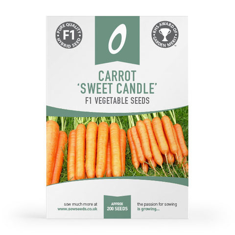 carrot sweet candle f1 vegetable seeds agm