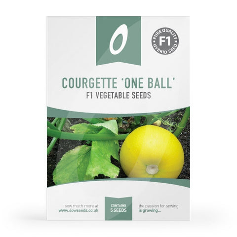 Courgette One Ball F1 Seeds