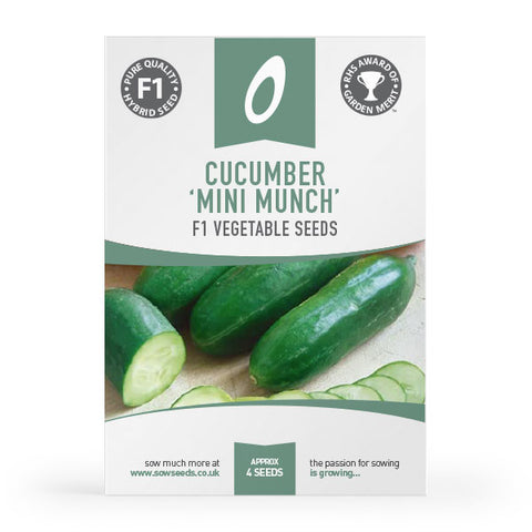 cucumber mini munch f1 vegetable seeds agm