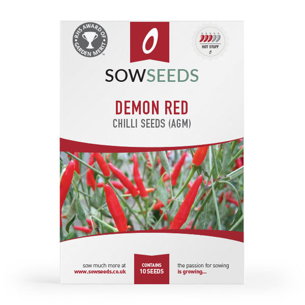 Demon Red Chilli Seeds (AGM)