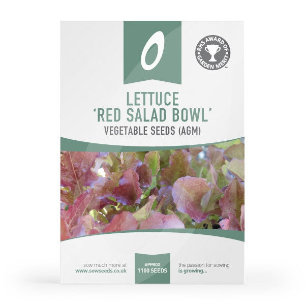 Lettuce Red Salad Bowl Seeds