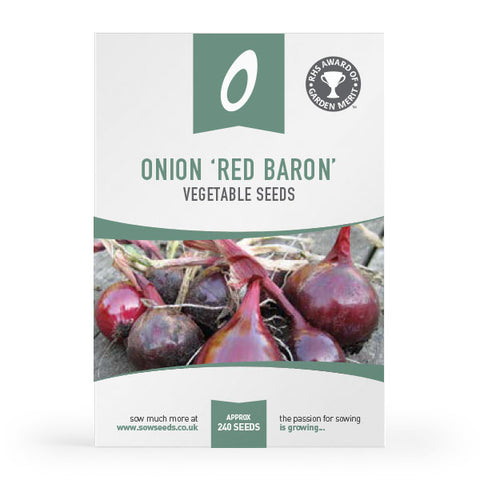 Onion Red Baron Seeds (AGM)