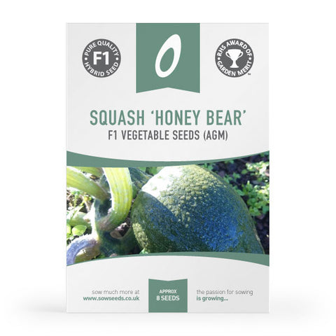Squash Honey Bear F1 Seeds (AGM)