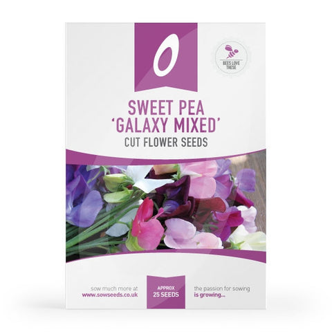 Sweet Pea Galaxy Mixed Cut Flower Seeds
