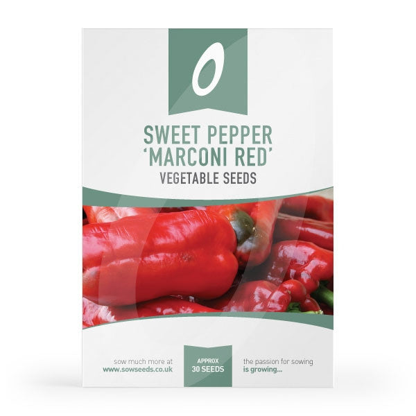 Sweet Pepper Marconi Red Seeds