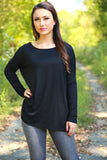 Piko Top - Black , shirt - Love June Boutique, Love June Boutique  - 1