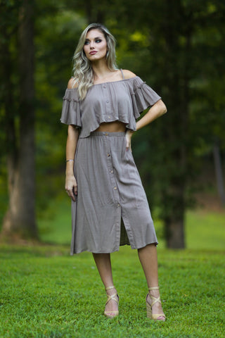 Jordan natural stripe button down dress