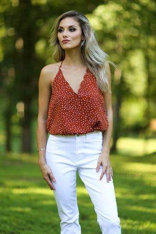 Natalie sleeveless peplum top - white
