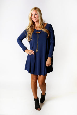 Piko Trapeze Dress - Army