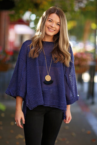 Lauren Jesey Knit Cowl Neck Top