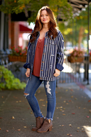 Madison Sherpa  fleece color block cardigan